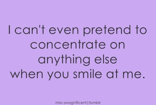 concentrate, love, pretend, smile, text