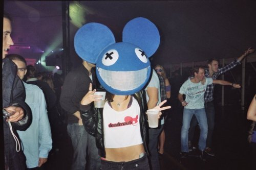concert, cute, deadmau5, drinking, dubstep