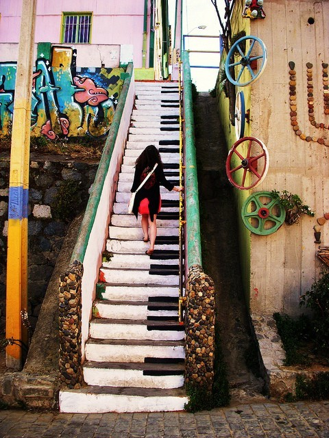 cool, escaleras, music, original, piano