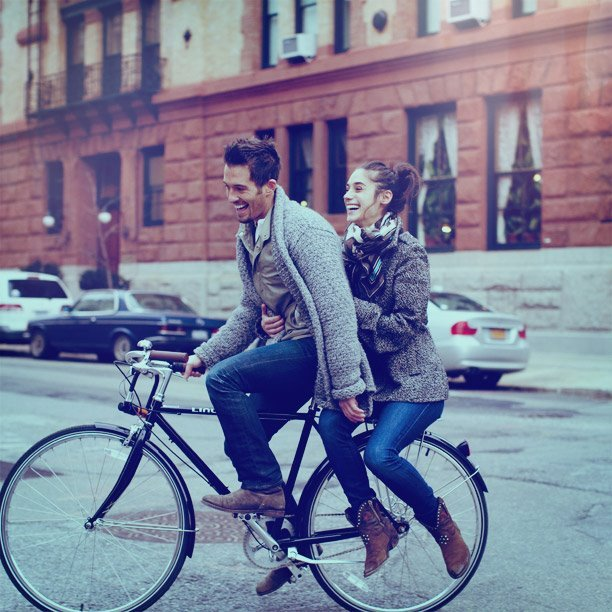 couple, cute, cycle, girl, love