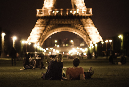 couple, eiffel tower, love, paris
