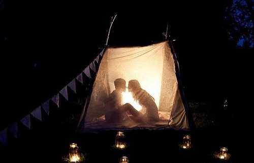 couple, fire, in love, love, night, summer, tent