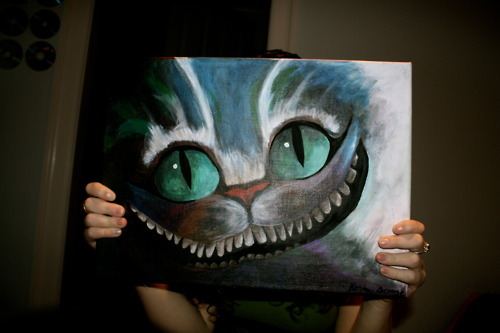 #crazycat, alice, alice in wonderland, amazing, art, cat, cheshire cat, cool, eyes, locura, meow, painting, photography, wonderland