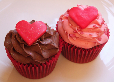 cupcakes, cute, food, hearts, pink