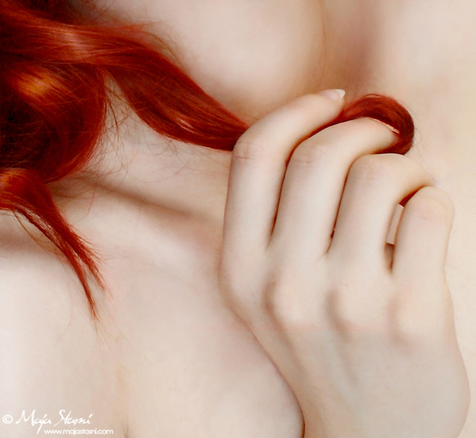 curl, girl, hair, hand, photography