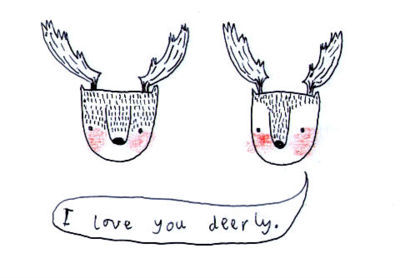 cute, deer, deers, drawing, illustration