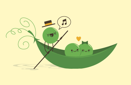cute, drawing, gondola, heart, illustration, love, peas in a pod