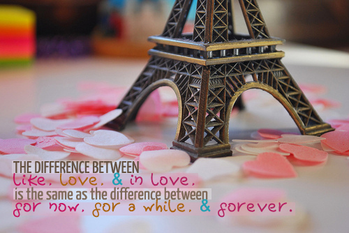 cute, eiffel, forever, like, love, paris, pink, pretty, quotes, sayings, words