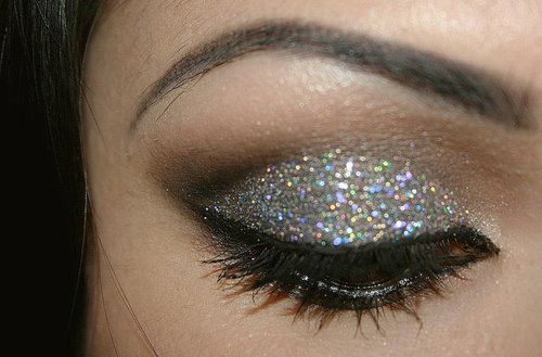 cute, eye, eye shadow, eyes, eyes make up, face, fashion, hot, makeup, pretty, sequins, style