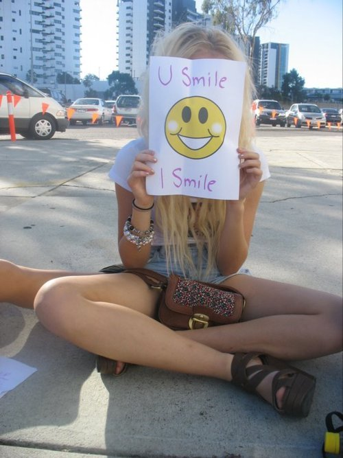 cute, face, girl, i smile, love