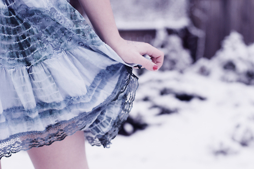 cute, fashion, girl, skirt, snow