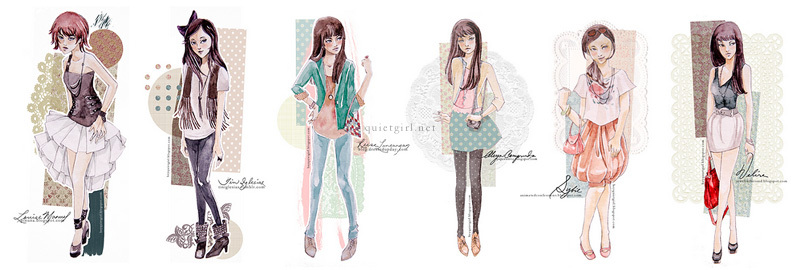 cute, fashion, girly, illustration, pastel