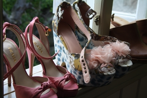 cute, fashion, heels, high heels, love, pink, prada, shoes, summer