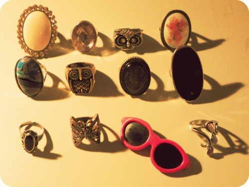 cute, fashion, rings, vintage