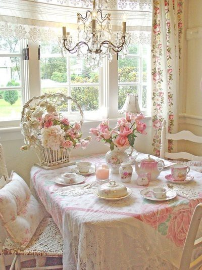 cute, floral, flowers, girly, pastel, pink, tea, tea party