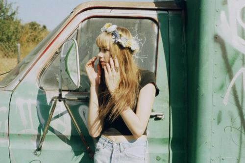 cute, flowers, hair, hypster, indie