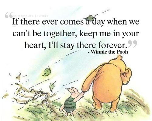 cute, friend, love, piglet, qoute, text, winnie the pooh