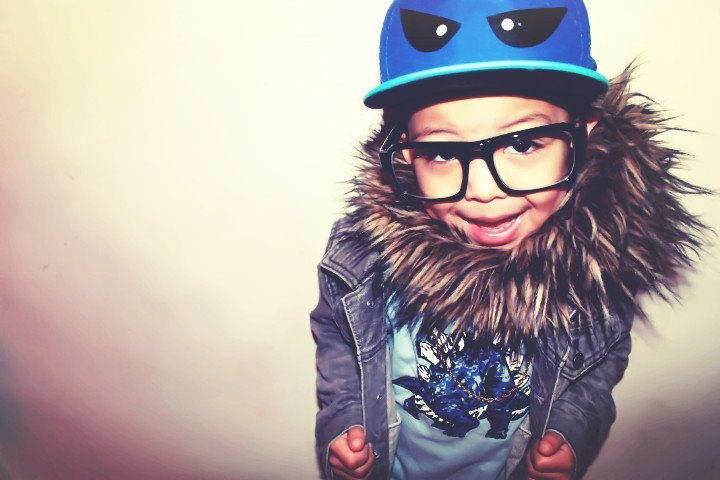 cute, fur, glasses, hat, kid
