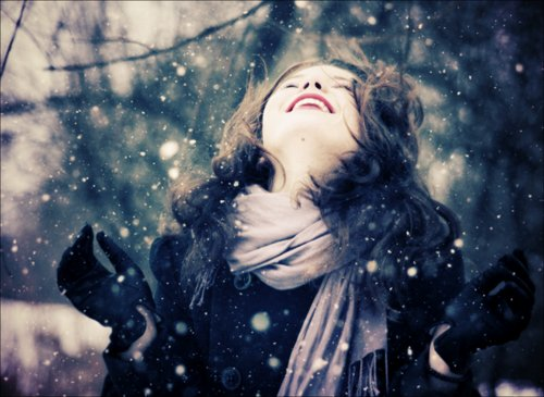 cute, girl, snow, winter
