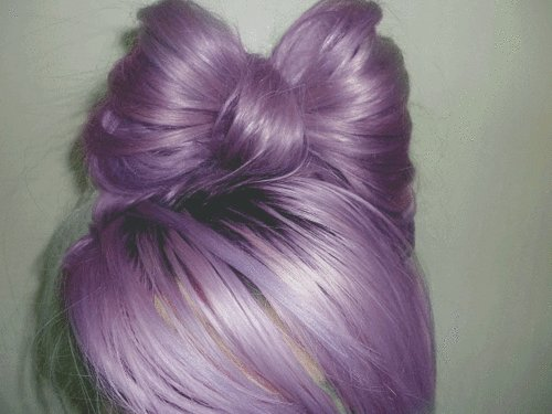 cute, hair, hair bow, hairspiration, lavender hair