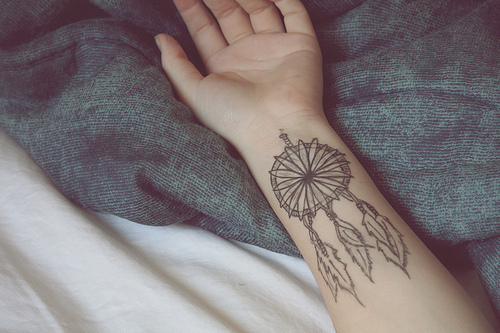 cute, hand, pulso, tattoo