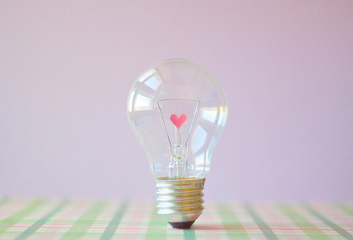 cute, heart, joyhey, light bulb, pastel