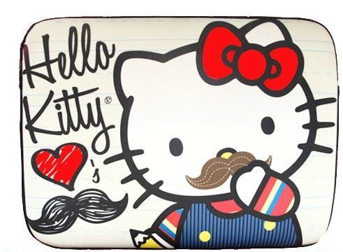 cute, hello kitty, mustaches