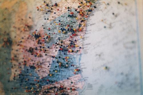 cute, hipster, indie, map, poster