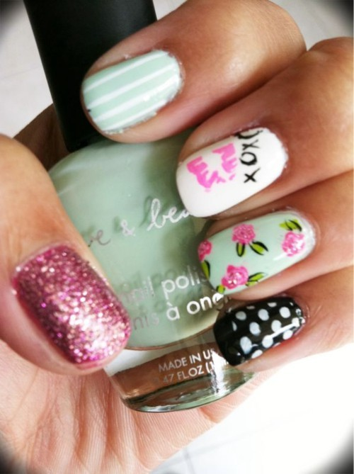 cute, love, nails