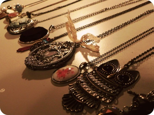 cute, necklaces, owl, photography, vintage