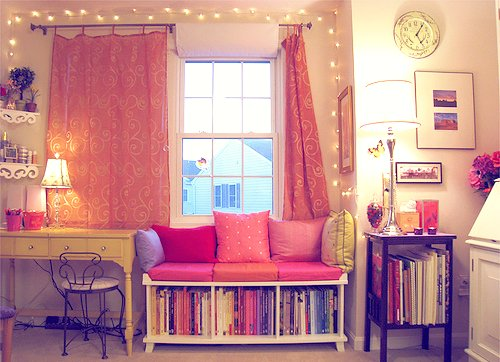 cute, pastels, room