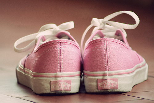 cute, pink, shoes, vans