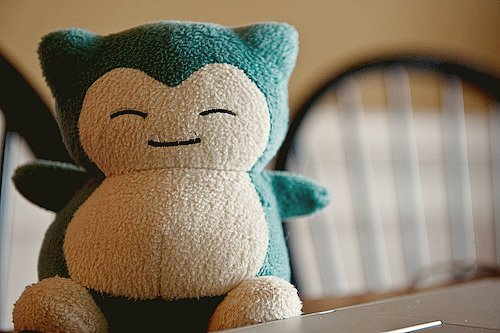 cute, plushie, pokemon, snorlax, stuffed animal