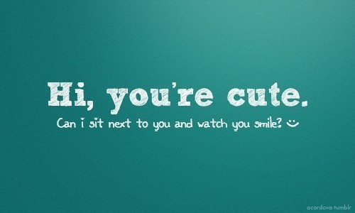 cute, smile, text
