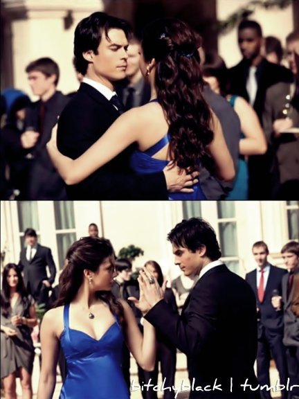 damon, damon salvatore, dance, delena, eyes, ian somerhalder, love, the vampire diaries, tvd