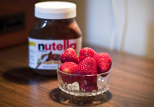delicious, food, foods, nutella, strawberry