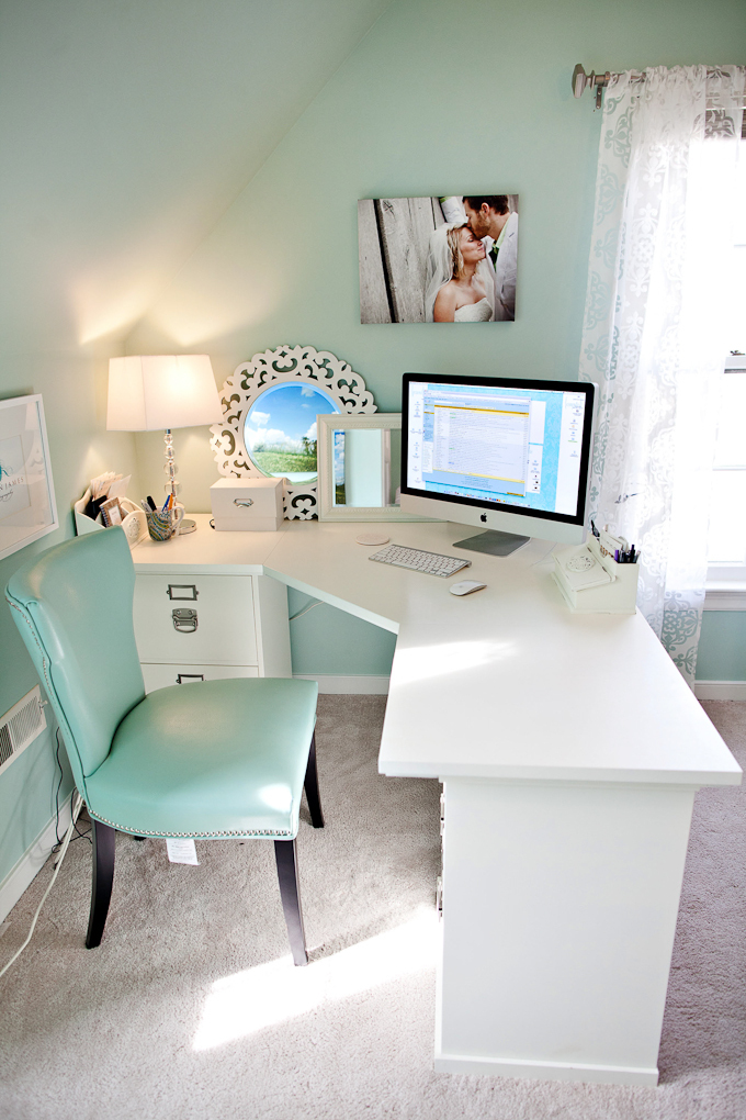 desk, room inspiration, scandinavian, teal, vintage