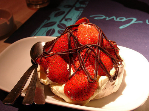 dessert, food, strawberry, yummy