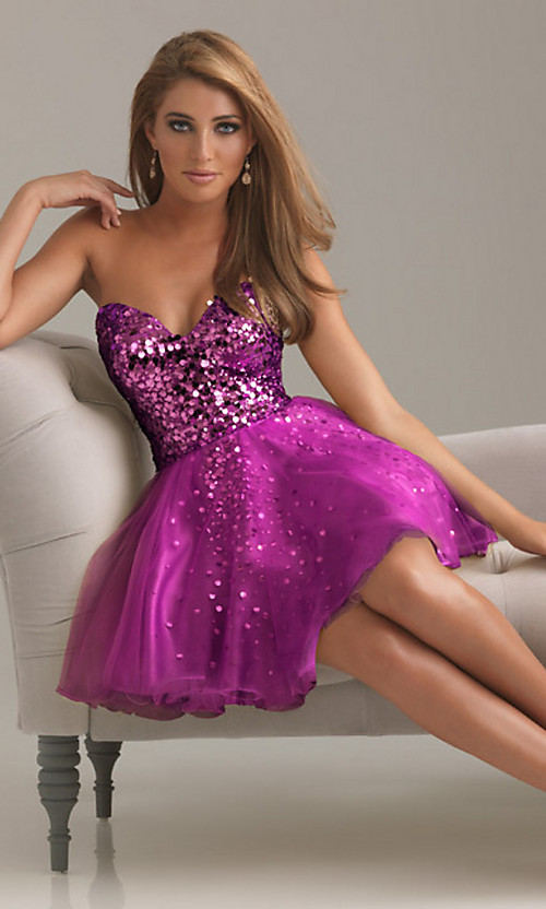 diamonds, dress, homecoming, poofy, purple