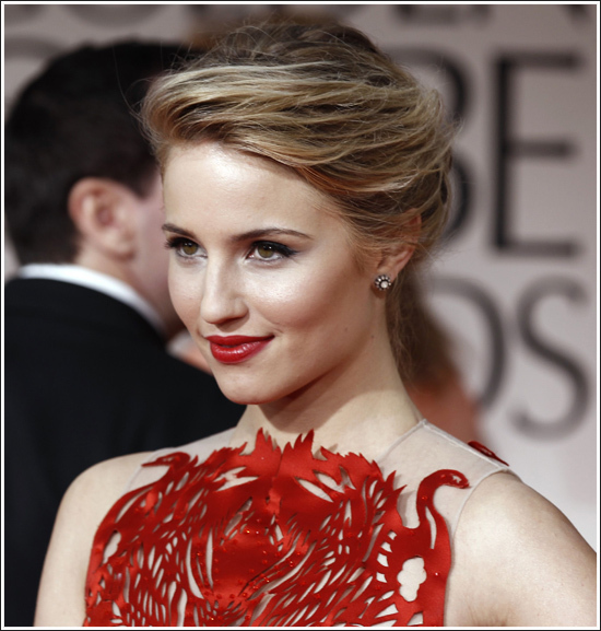 dianna agron, golden globes, golden globes 2012, red carpet