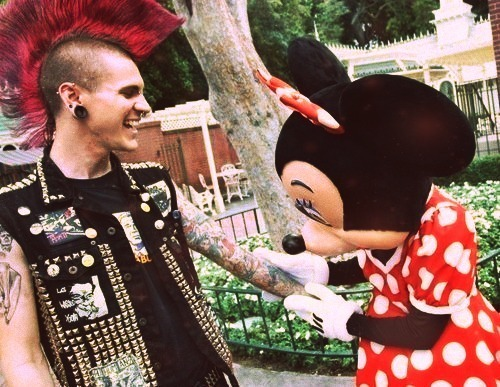 disney, mickey, minnie, photography, punk, punker