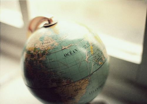 distance, earth, girl, globe, hipster