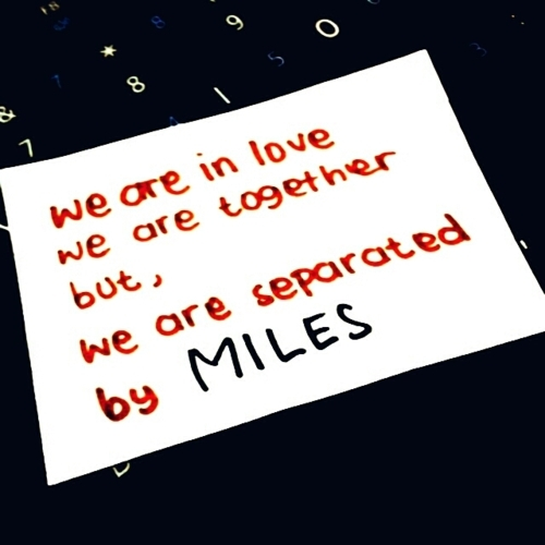 distance, ldr, love, miles, quote, relationship, separated, text, typography, words