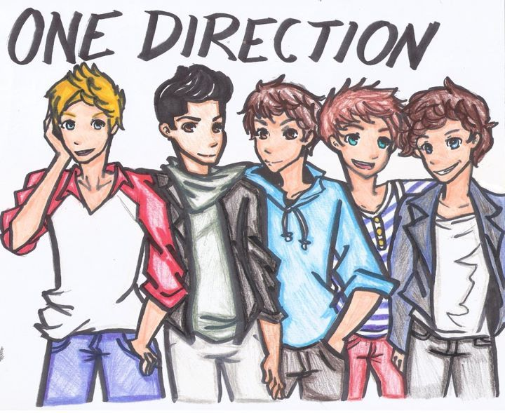 drawing, harry styles, liam payne, louis tomlinson, niall horan