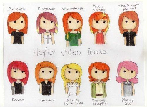 drawing, hair, hayley williams, music, paramore