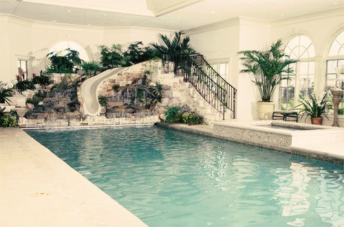 dream house, indoor, pool