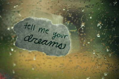 dreams, photography, quote, rain, text, typography, window, words