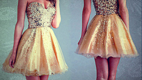 dress, fashion, glitter, gold, rhinestones