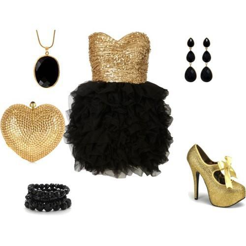 dress, fashion, golden
