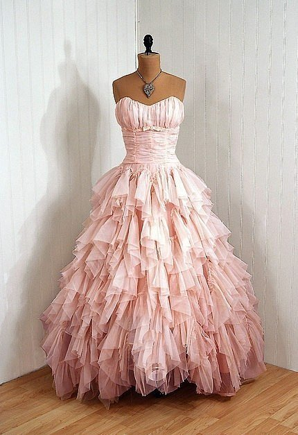 dress, fashion, pink, vintage